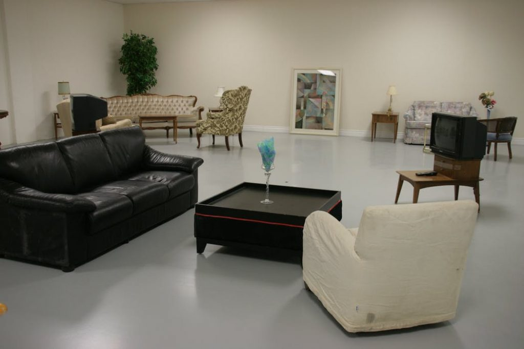 Italian furniture in the showroom